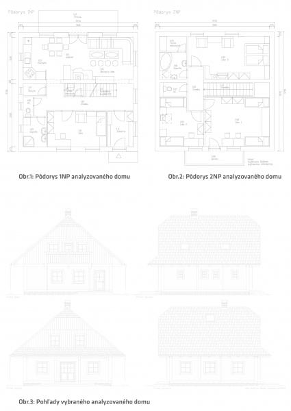 Prevádzkové náklady - pôdorys analyzovaného domu